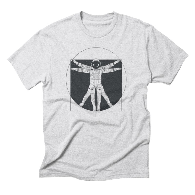 Vitruvian Spaceman (Dark Ink) Men's Triblend T-Shirt by 84collective