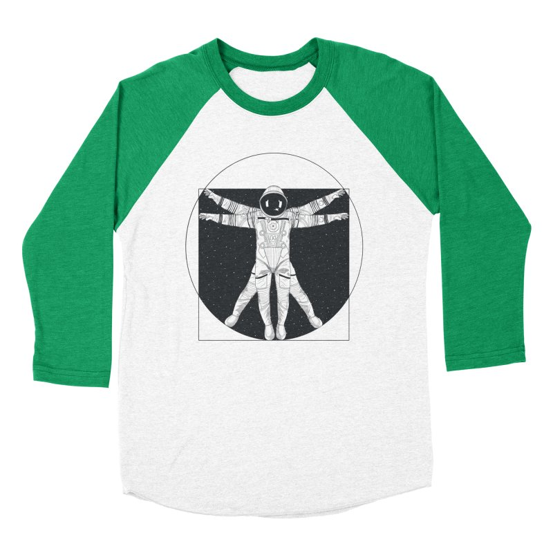Vitruvian Spaceman (Dark Ink) Women's Baseball Triblend Longsleeve T-Shirt by 84collective