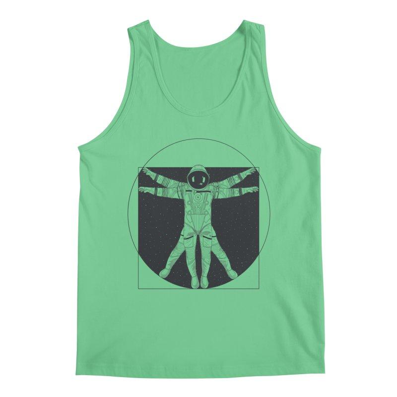 Vitruvian Spaceman (Dark Ink) Men's Tank by 84collective
