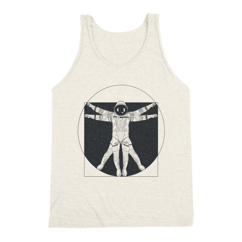 Vitruvian Spaceman (Dark Ink) Men's Triblend Tank by 84collective