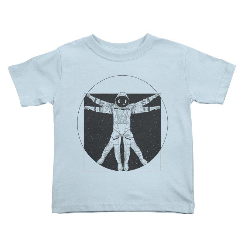 Vitruvian Spaceman (Dark Ink) Kids Toddler T-Shirt by 84collective