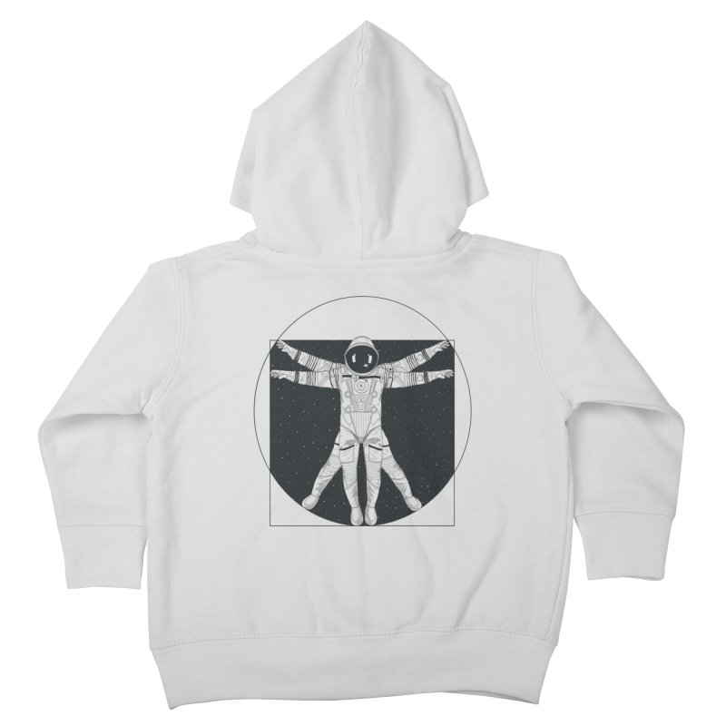 Vitruvian Spaceman (Dark Ink) Kids Toddler Zip-Up Hoody by 84collective