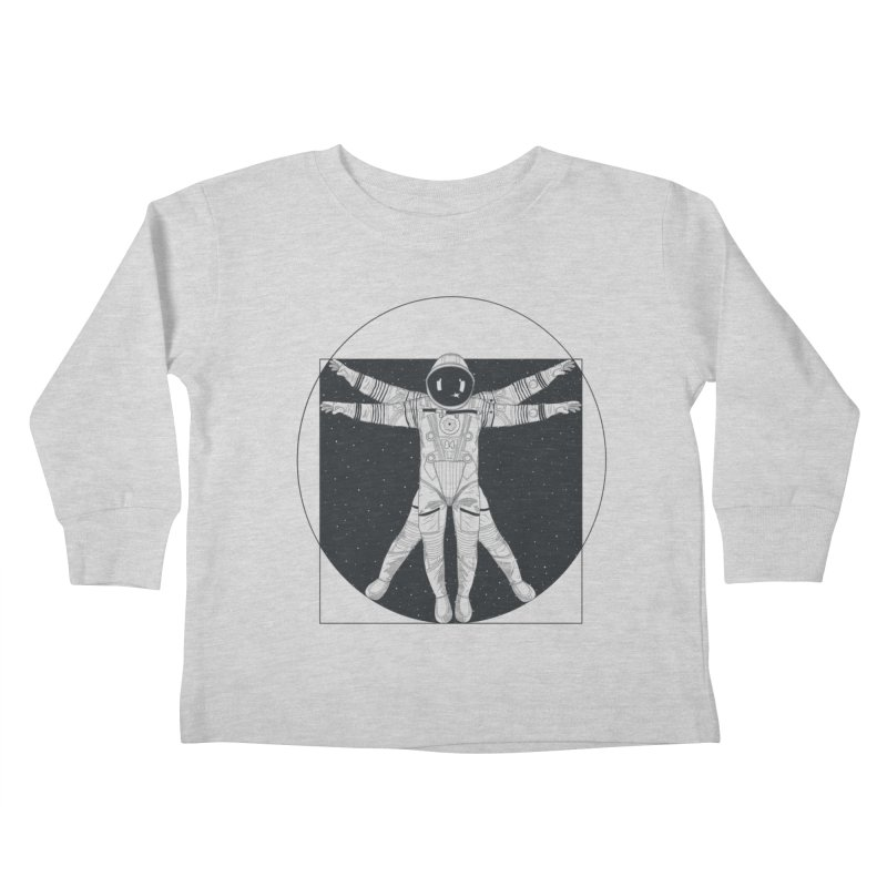 Vitruvian Spaceman (Dark Ink) Kids Toddler Longsleeve T-Shirt by 84collective