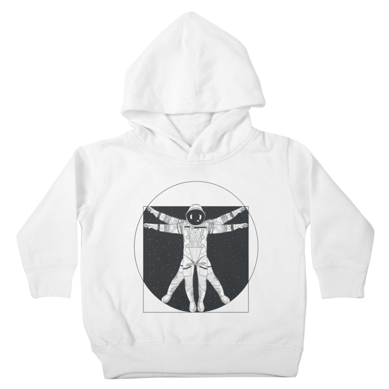 Vitruvian Spaceman (Dark Ink) Kids Toddler Pullover Hoody by 84collective