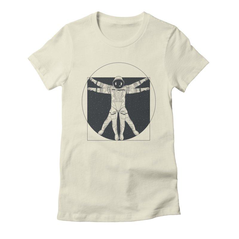 Vitruvian Spaceman (Dark Ink) Women's T-Shirt by 84collective