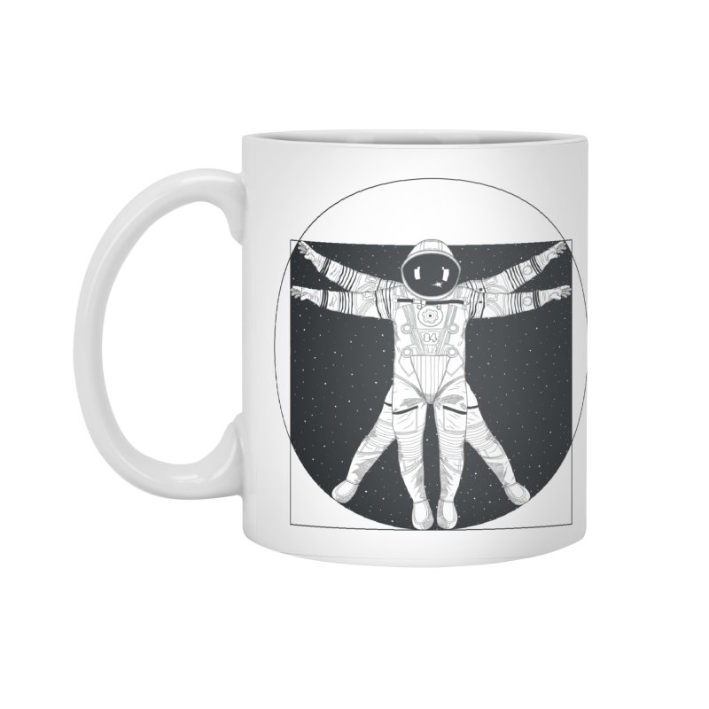 Vitruvian Spaceman (Dark Ink) Accessories Mug by 84collective