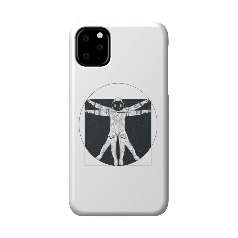 Vitruvian Spaceman (Dark Ink) Accessories Phone Case by 84collective