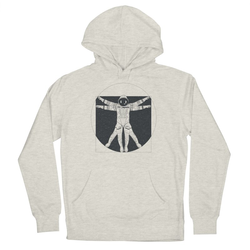 Vitruvian Spaceman (Dark Ink) Women's French Terry Pullover Hoody by 84collective
