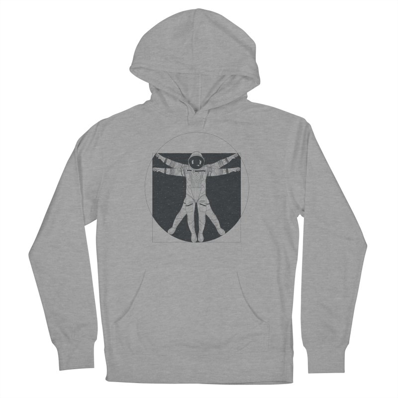 Vitruvian Spaceman (Dark Ink) Men's French Terry Pullover Hoody by 84collective
