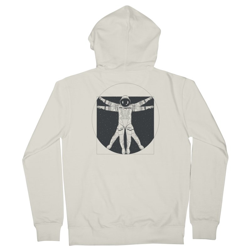 Vitruvian Spaceman (Dark Ink) Women's French Terry Zip-Up Hoody by 84collective