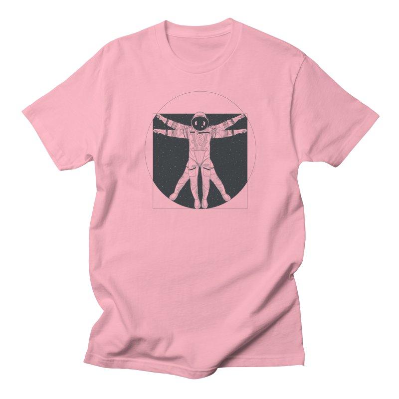 Vitruvian Spaceman (Dark Ink) Women's Regular Unisex T-Shirt by 84collective