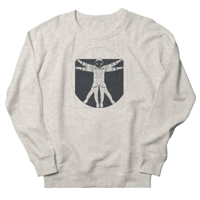 Vitruvian Spaceman (Dark Ink) Men's French Terry Sweatshirt by 84collective
