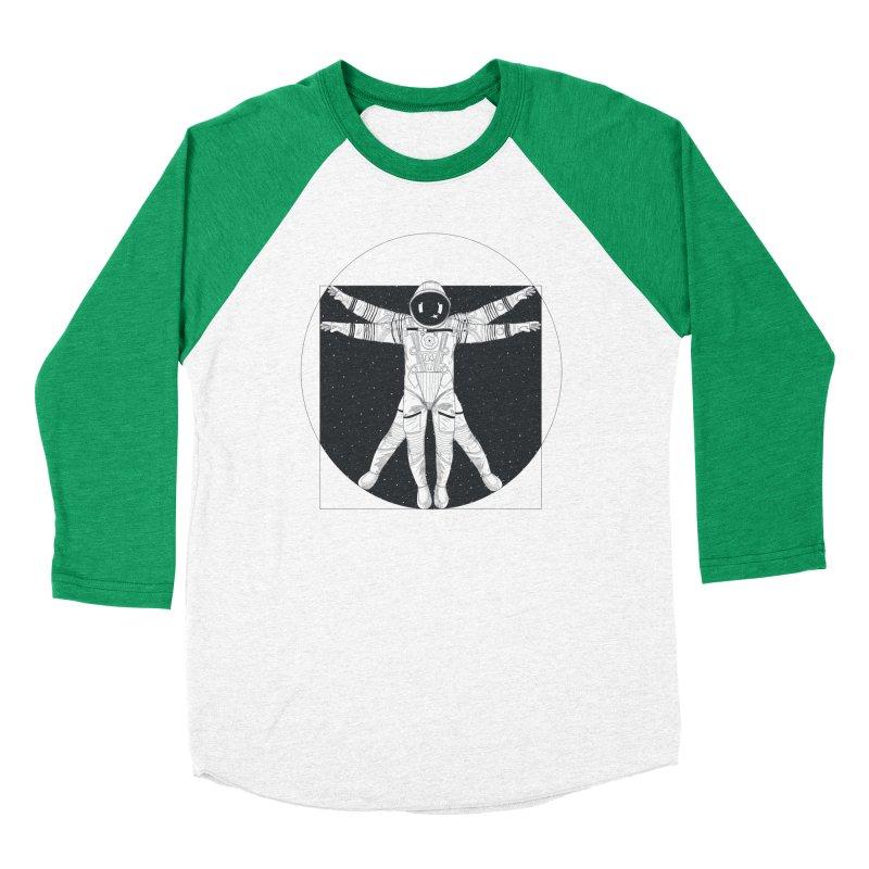 Vitruvian Spaceman (Dark Ink) Women's Baseball Triblend Longsleeve T-Shirt by 84collective