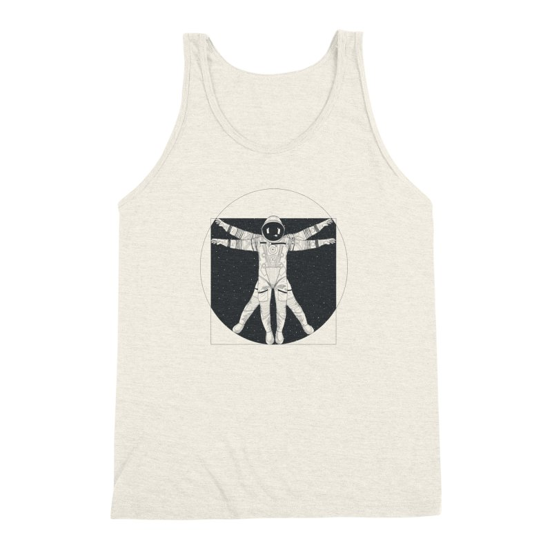 Vitruvian Spaceman (Dark Ink) Men's Triblend Tank by 84collective