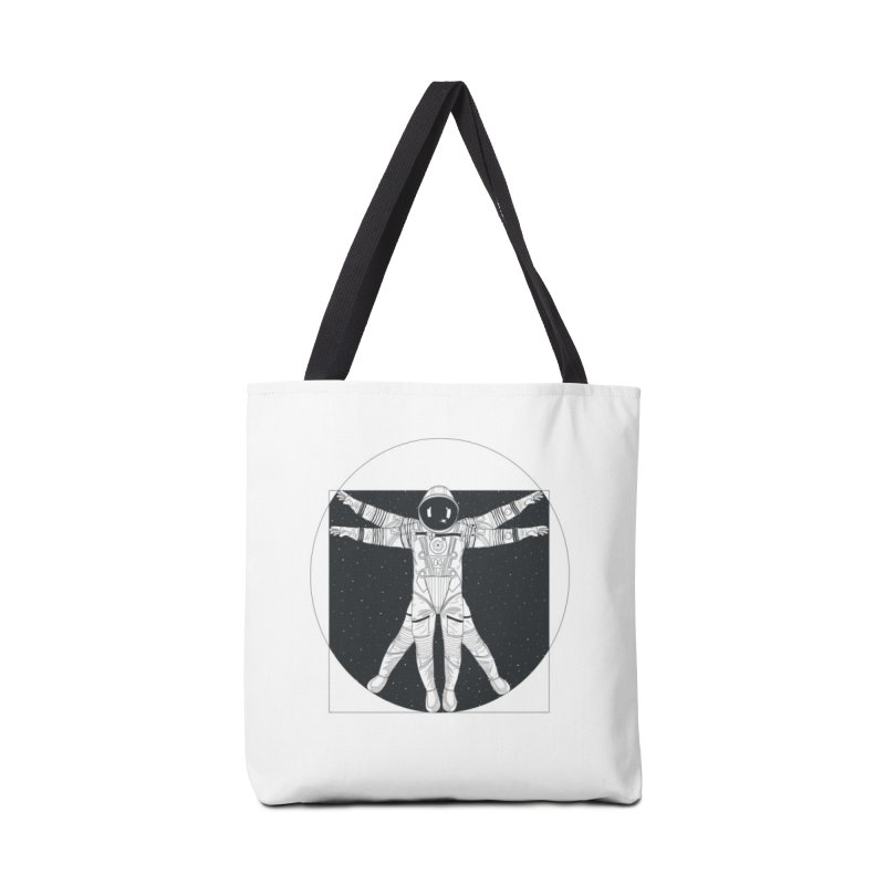 Vitruvian Spaceman (Dark Ink) Accessories Tote Bag Bag by 84collective