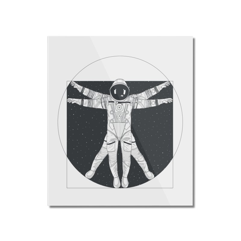 Vitruvian Spaceman (Dark Ink) Home Mounted Acrylic Print by 84collective