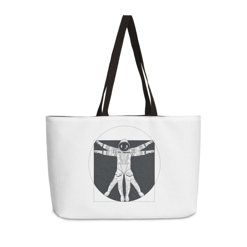 Vitruvian Spaceman (Dark Ink) Accessories Weekender Bag Bag by 84collective