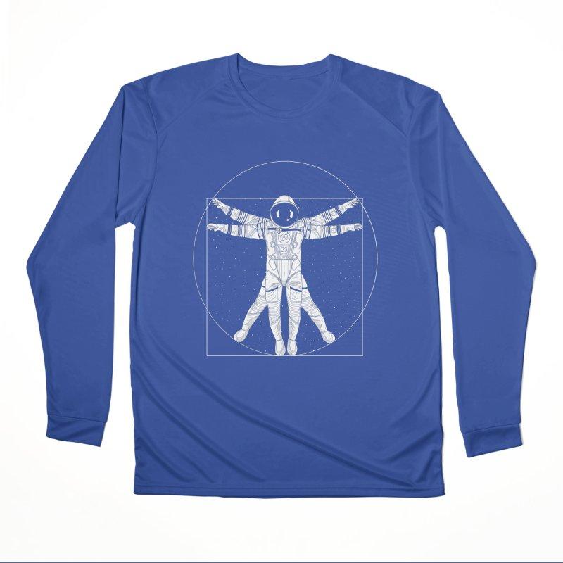 Vitruvian Spaceman (Light Ink) Men's Performance Longsleeve T-Shirt by 84collective