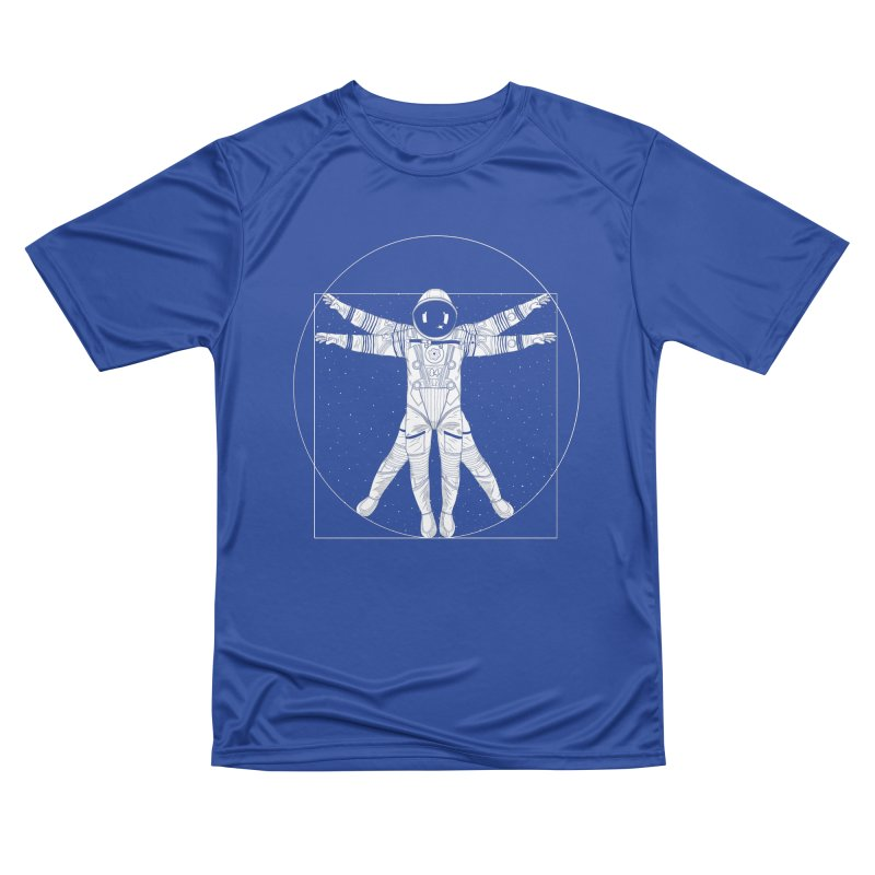 Vitruvian Spaceman (Light Ink) Men's Performance T-Shirt by 84collective