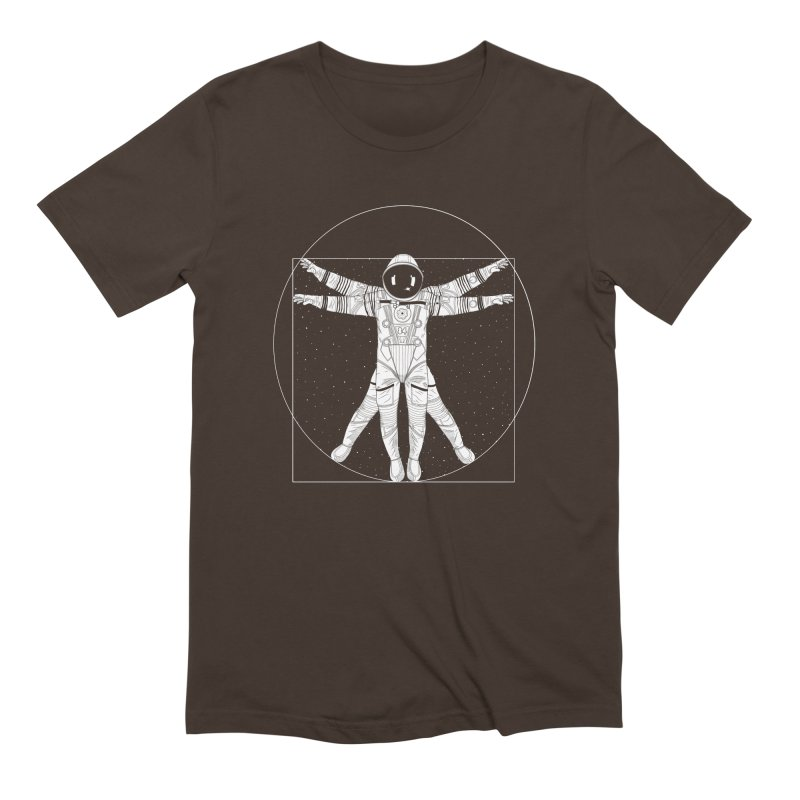 Vitruvian Spaceman (Light Ink) Men's Extra Soft T-Shirt by 84collective
