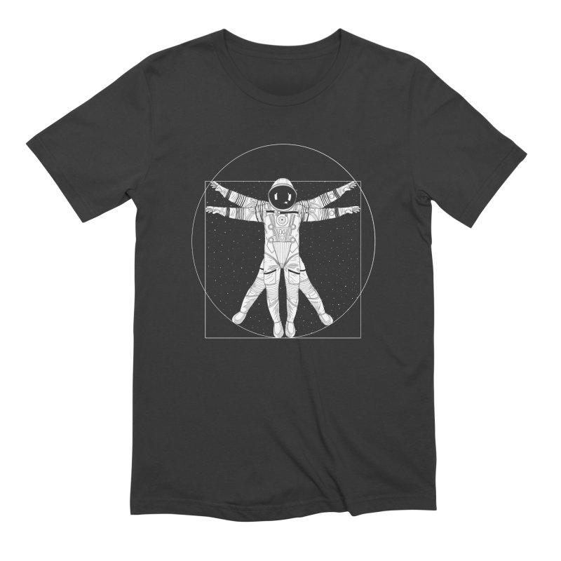 Vitruvian Spaceman (Light Ink) Men's T-Shirt by 84collective