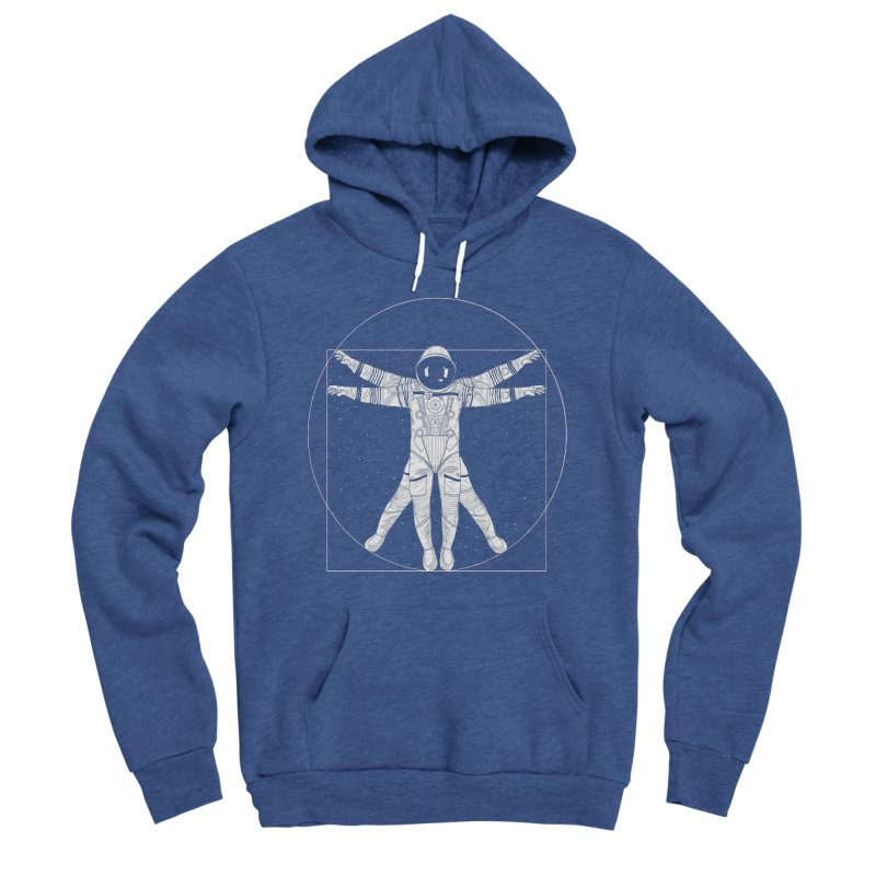 Vitruvian Spaceman (Light Ink) Men's Pullover Hoody by 84collective