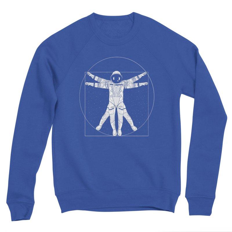 Vitruvian Spaceman (Light Ink) Women's Sponge Fleece Sweatshirt by 84collective