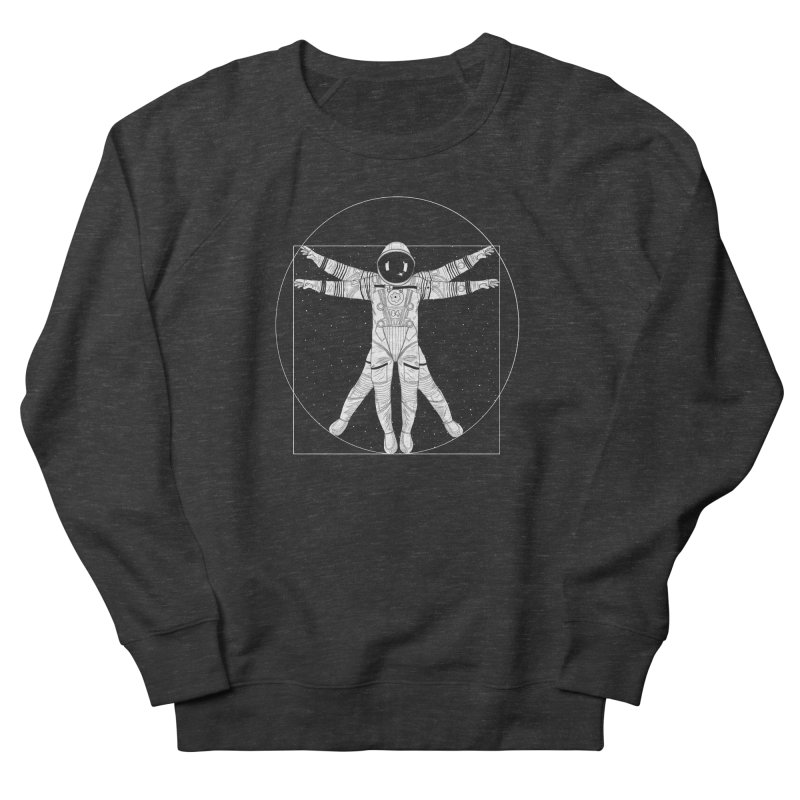 Vitruvian Spaceman (Light Ink) Men's Sweatshirt by 84collective
