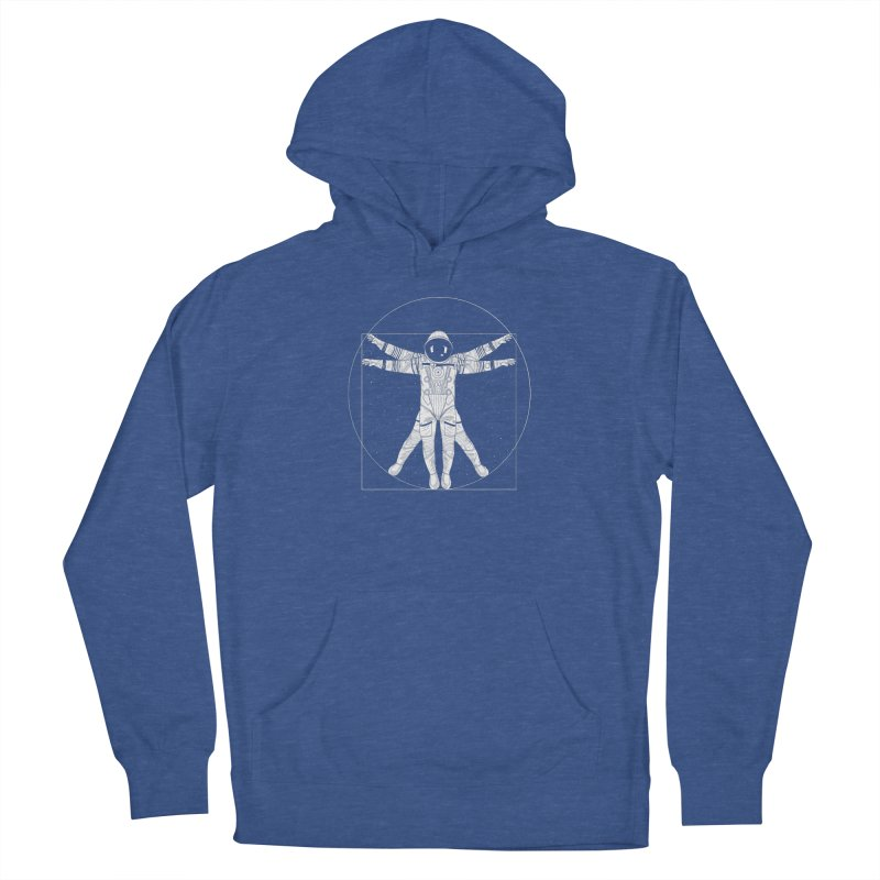 Vitruvian Spaceman (Light Ink) Women's Pullover Hoody by 84collective