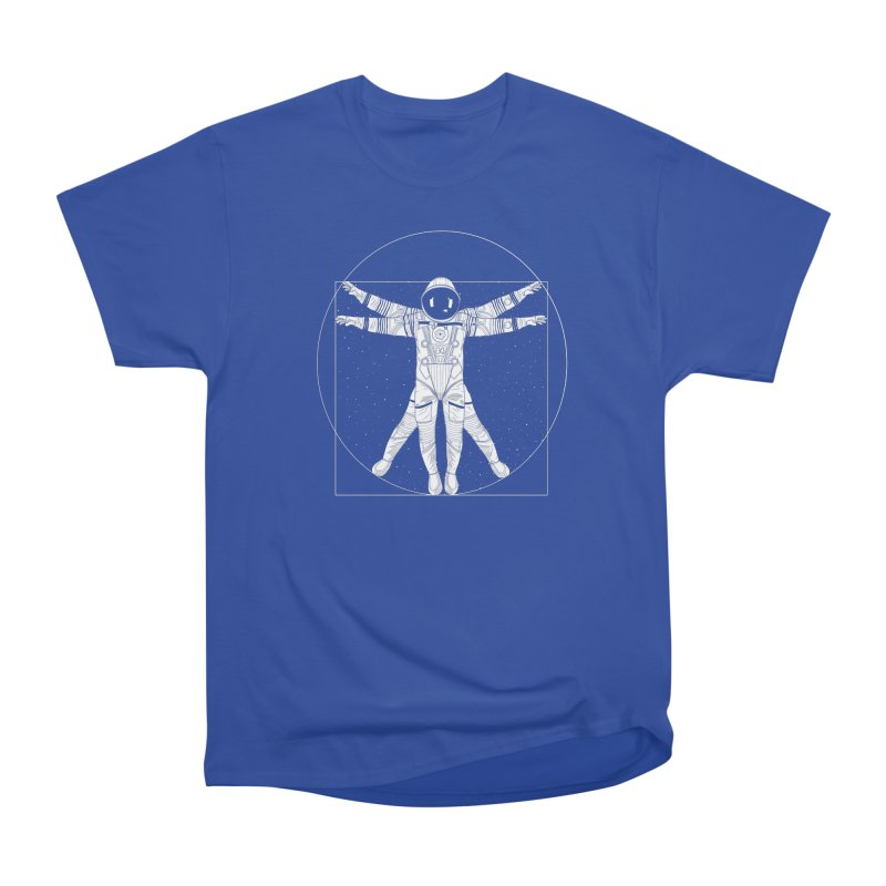 Vitruvian Spaceman (Light Ink) Women's Heavyweight Unisex T-Shirt by 84collective