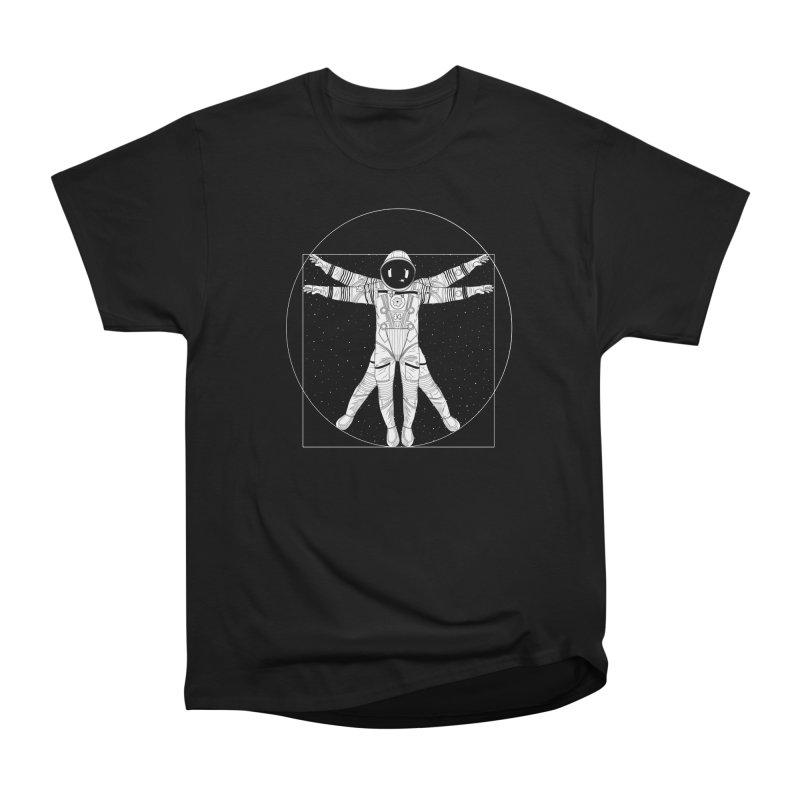 Vitruvian Spaceman (Light Ink) Men's Heavyweight T-Shirt by 84collective
