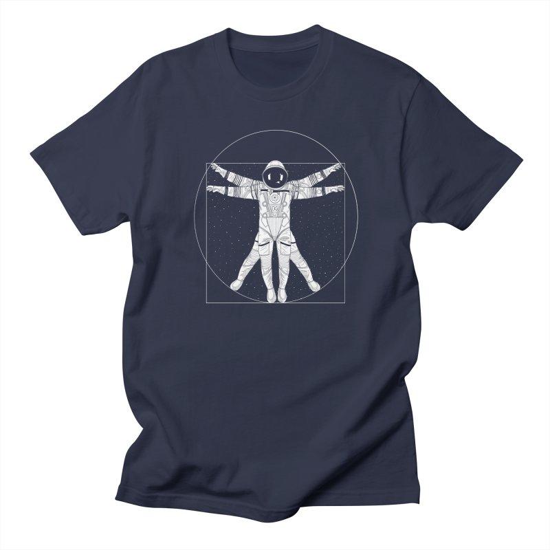 Vitruvian Spaceman (Light Ink) Women's Regular Unisex T-Shirt by 84collective