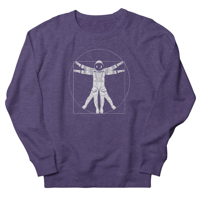 Vitruvian Spaceman (Light Ink) Women's French Terry Sweatshirt by 84collective
