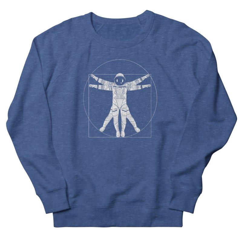 Vitruvian Spaceman (Light Ink) Men's Sweatshirt by 84collective