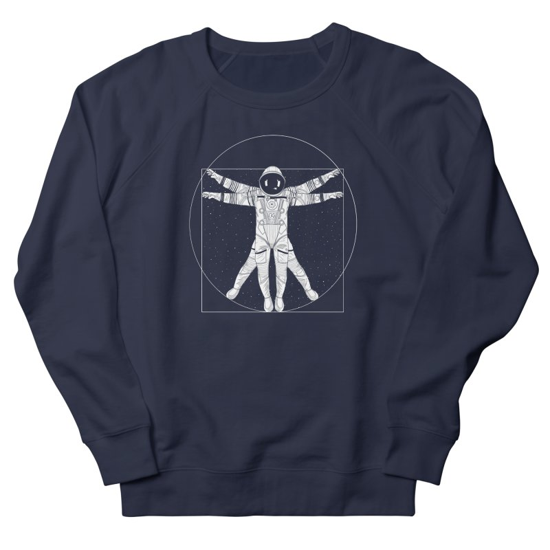 Vitruvian Spaceman (Light Ink) Men's French Terry Sweatshirt by 84collective