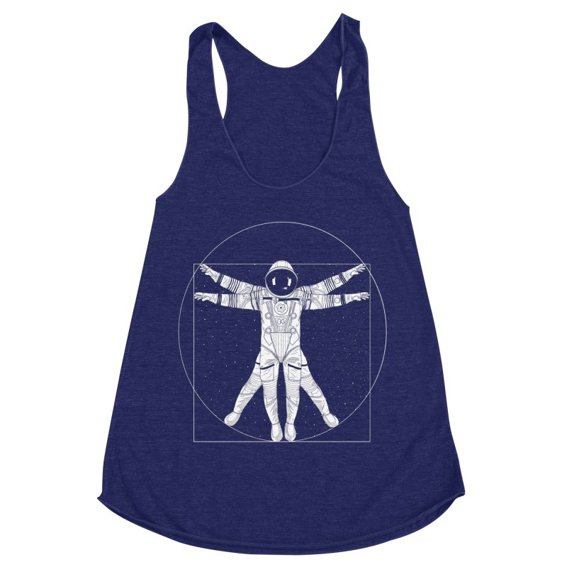 Vitruvian Spaceman (Light Ink) Women's Tank by 84collective
