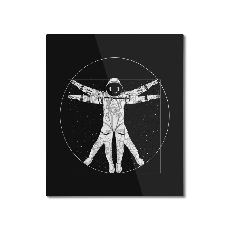 Vitruvian Spaceman (Light Ink) Home Mounted Aluminum Print by 84collective