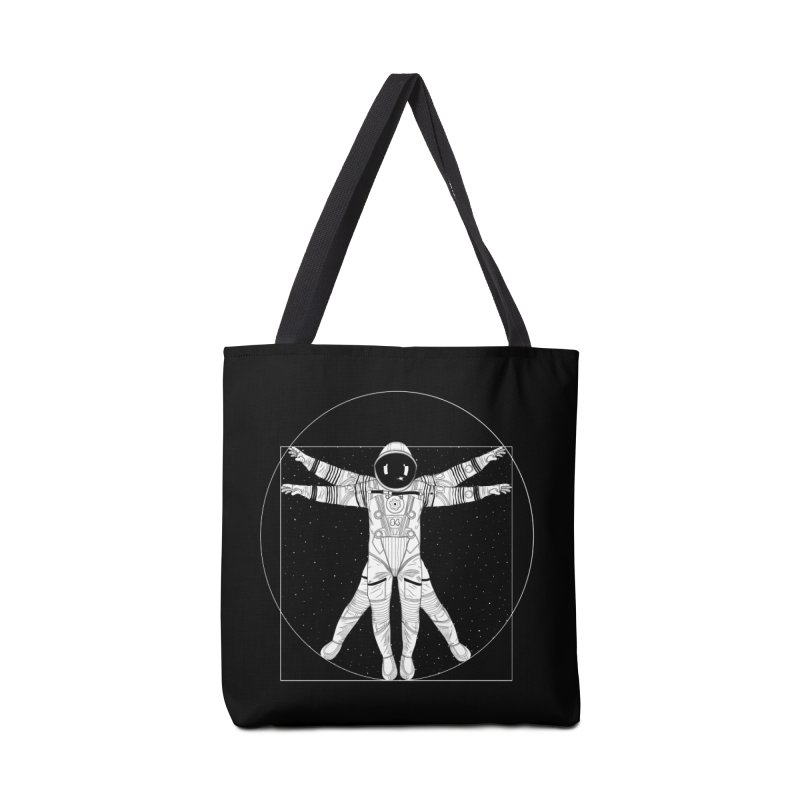Vitruvian Spaceman (Light Ink) Accessories Tote Bag Bag by 84collective