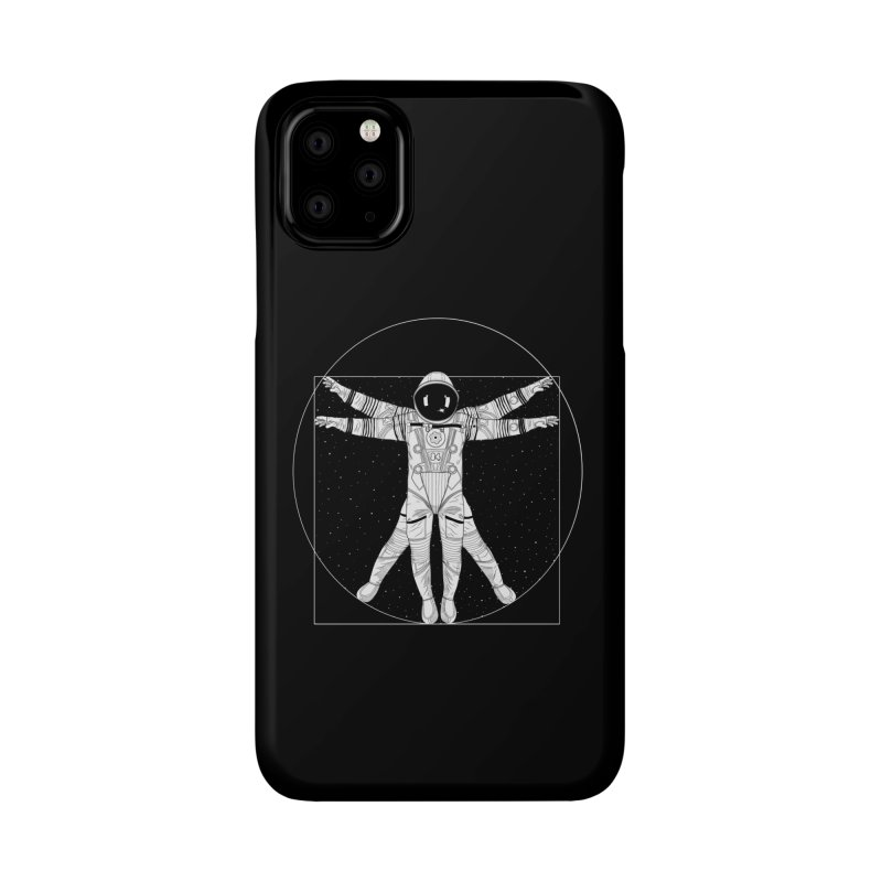 Vitruvian Spaceman (Light Ink) Accessories Phone Case by 84collective