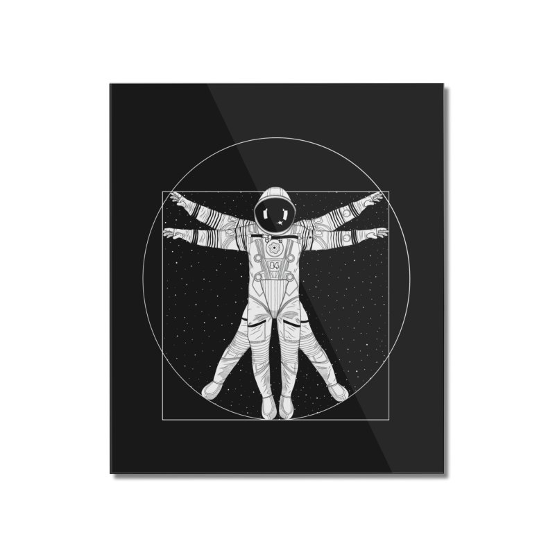 Vitruvian Spaceman (Light Ink) Home Mounted Acrylic Print by 84collective