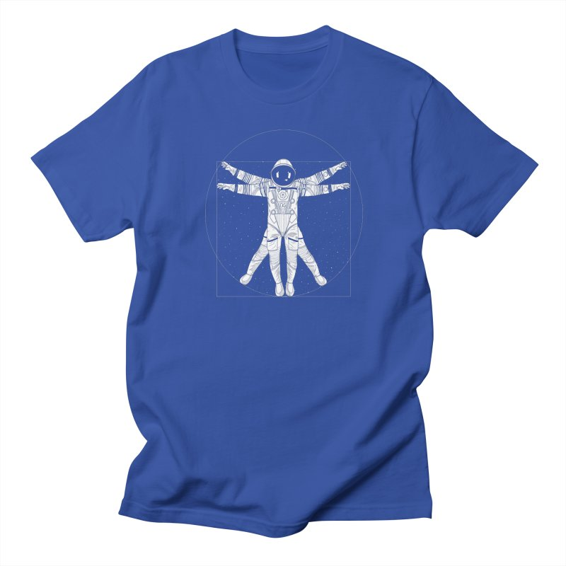Vitruvian Spaceman (Light Ink) Men's T-Shirt by 84collective