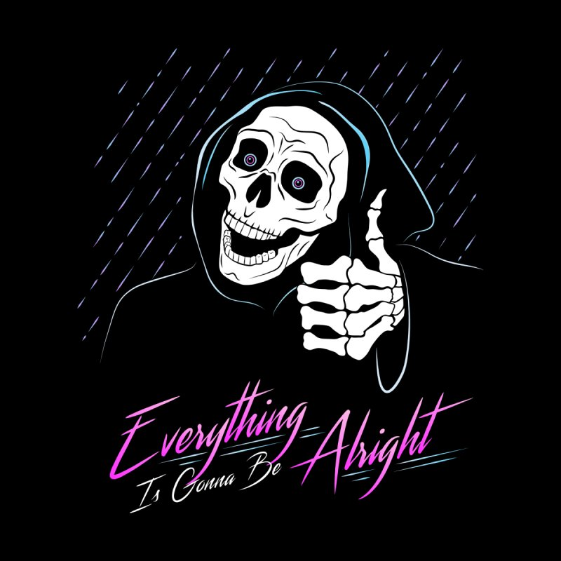 Everything Is Gonna Be Alright Love Grim Reaper Accessories Beach Towel by 84collective