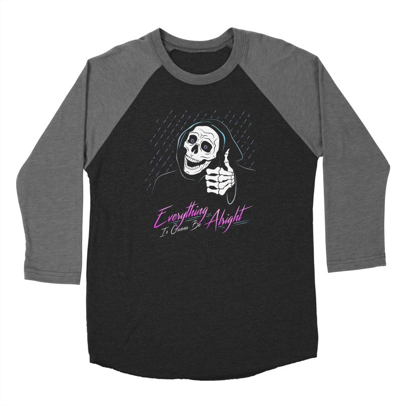 Everything Is Gonna Be Alright Love Grim Reaper Men's Baseball Triblend Longsleeve T-Shirt by 84collective