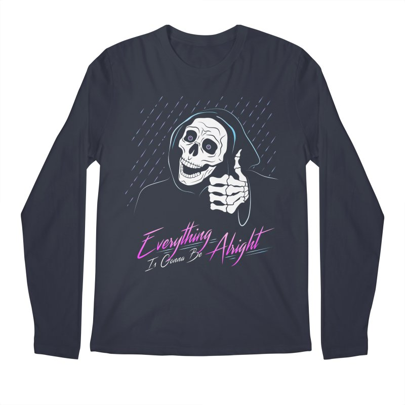 Everything Is Gonna Be Alright Love Grim Reaper Men's Longsleeve T-Shirt by 84collective