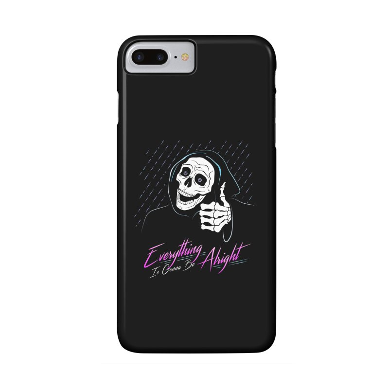Everything Is Gonna Be Alright Love Grim Reaper Accessories Phone Case by 84collective