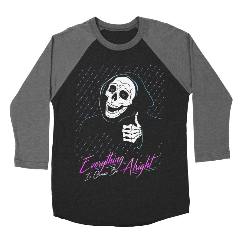 Everything Is Gonna Be Alright Love Grim Reaper Women's Baseball Triblend Longsleeve T-Shirt by 84collective