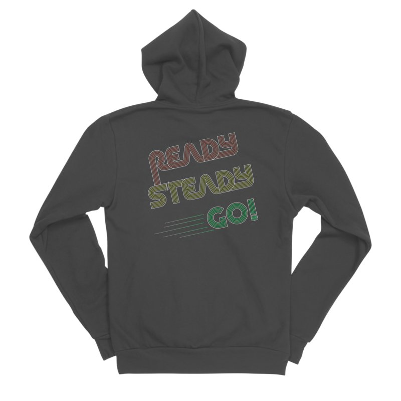 Ready Steady Go! Women's Sponge Fleece Zip-Up Hoody by 84collective