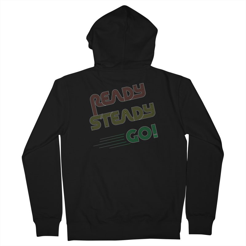 Ready Steady Go! Men's Zip-Up Hoody by 84collective