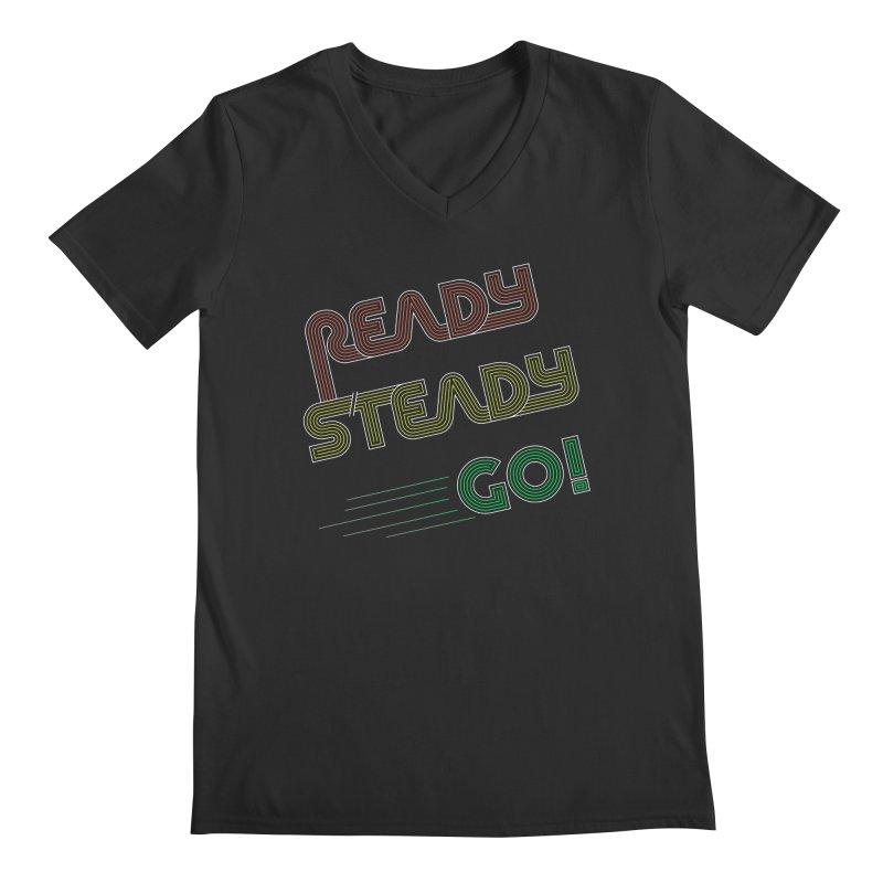 Ready Steady Go! Men's Regular V-Neck by 84collective