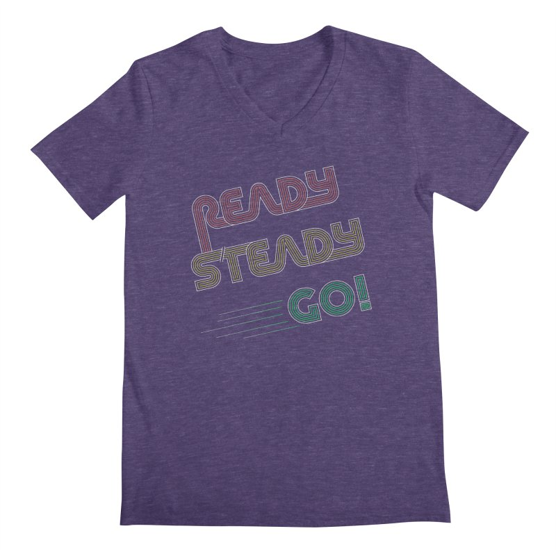 Ready Steady Go! Men's V-Neck by 84collective